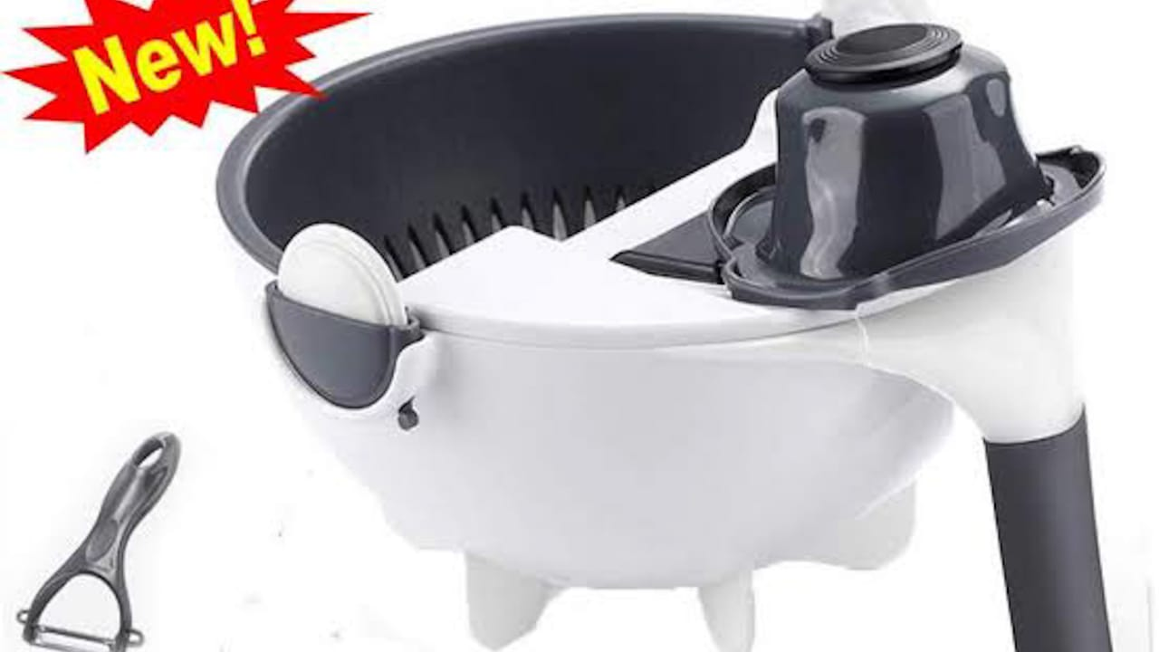 Multi-Functional Rotating Vegetable Slicer