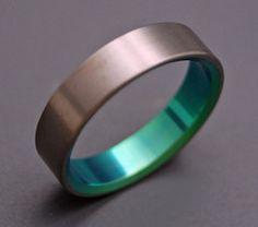 Oracle colorful titanium rings