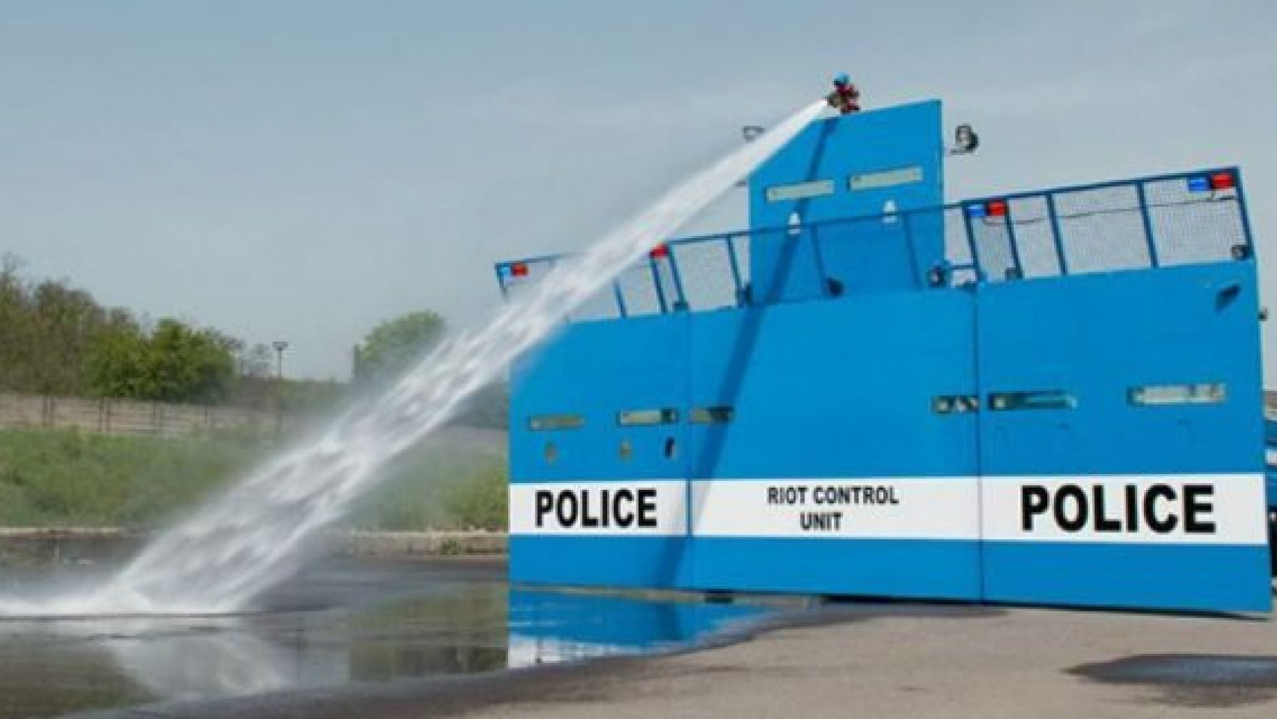 Monster riot control vehicle