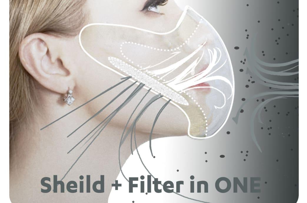 Radical Clear Shield N95 mask