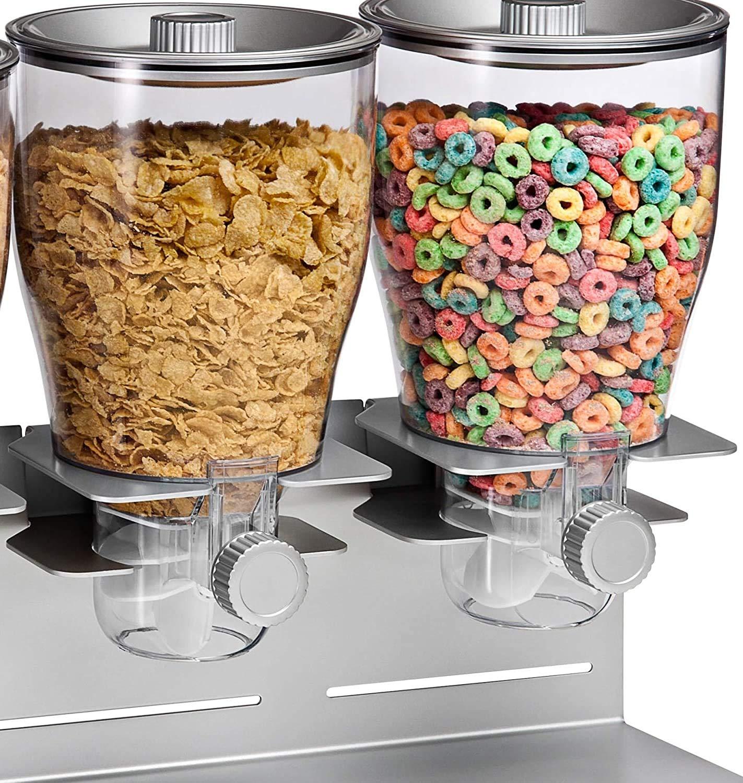 ZevrO Plastic Double Cereal Dispenser