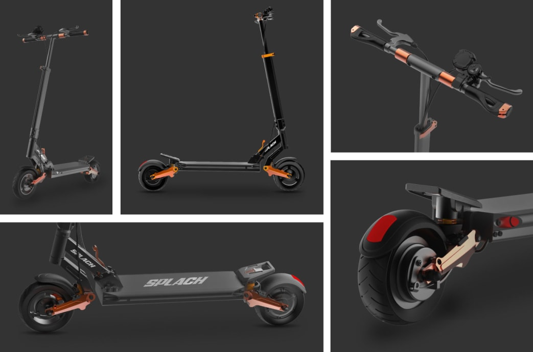 SPLACH Ultra Smooth E Scooter